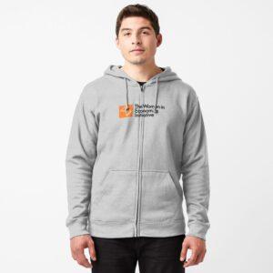 WiE Logo Zipped Hoodie