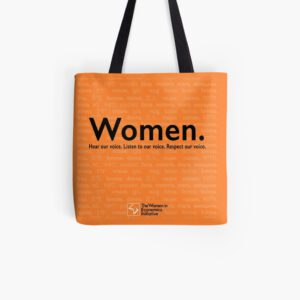 'Voices in Orange' Tote Bag
