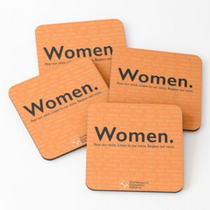 'Voices in Orange' Coasters (Set of 4)