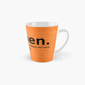 'Voices in Orange' Tall Mug
