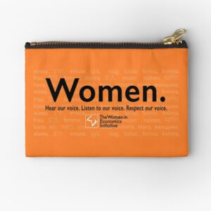 'Voices in Orange' Zipper Pouch