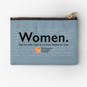 'Voices in Blue' Zipper Pouch