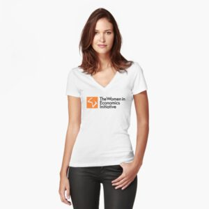 WiE Logo Fitted V-Neck T-Shirt